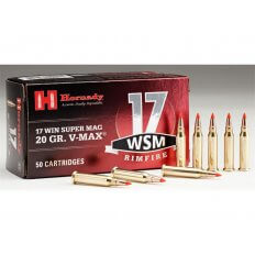 Hornady .17 Winchester Super Magnum 20 Gr. V-Max- Box of 50