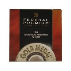 Federal Premium Gold Medal Small Pistol Match Primers #100M- Box of 1000 (HAZMAT Fee Required)