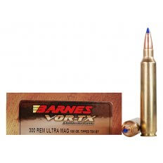 Barnes VOR-TX .300 Remington Ultra Magnum 180 Gr. Tipped TSX Bullet Boat Tail- Lead-Free- Box of 20
