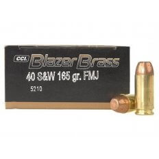 CCI Blazer Brass .40 S&W 165 Gr. Full Metal Jacket- Box of 50