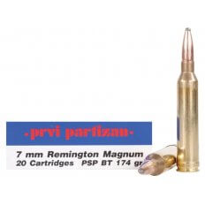 Prvi Partizan 7mm Remington Magnum 174 Gr. Pointed Soft Point- Box of 20