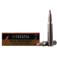 Federal Premium Vital-Shok .30-06 Springfield 165 Gr. Trophy Copper Tipped Boat Tail- Lead-Free- Box of 20