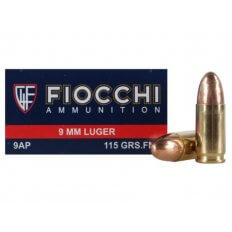 Fiocchi Shooting Dynamics 9mm Luger 115 Gr. FMJ- 9AP