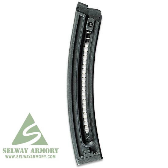 GSG/ATI .22 Long Rifle 22-Round Magazine Black Polymer- 2 Pack