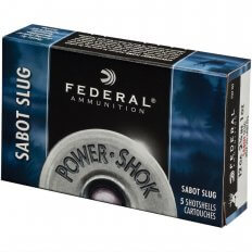 "Federal Power-Shok 12 Gauge 2-3/4"" 1 oz Hollow Point Sabot Slug F127 SS2"