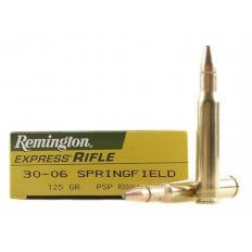 Remington Express .30-06 Springfield 125 Gr. Pointed Soft Point- Box of 20