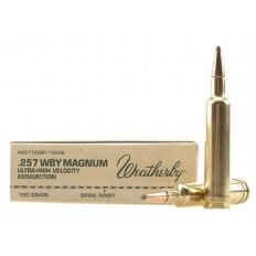 Weatherby .257 Weatherby Magnum 100 Gr. Hornady InterLock Spire Point- Box of 20