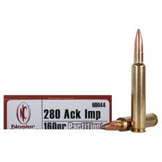 Nosler Trophy Grade .280 Remington Ackley Improved 160 Gr. Partition Spitzer- Box of 20
