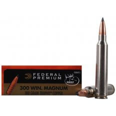 Federal Premium Vital-Shok .300 Winchester Magnum 180 Gr. Trophy Copper Tipped Boat Tail- Lead-Free- Box of 20