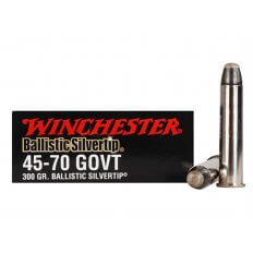 Winchester Supreme .45-70 Government 300 Gr. Ballistic Silvertip- Box of 20