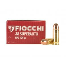 Fiocchi Shooting Dynamics .38 Super 129 Gr. Full Metal Jacket- Box of 50