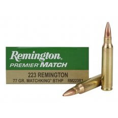 Remington Premier Match .223 Remington 77 Gr. Sierra MatchKing Hollow Point RM223R3