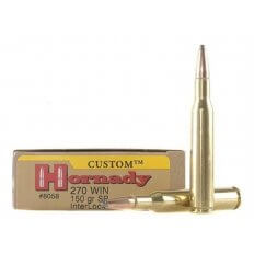 Hornady Custom .270 Winchester 150 Gr. InterLock Spire Point- Box of 20
