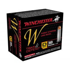 Winchester W Defend Reduced Recoil .38 Special 130 Gr. Jacketed Hollow Point- Box of 20