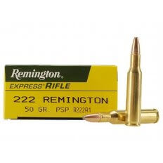 Remington Express .222 Remington 50 Gr. Pointed Soft Point- Box of 20