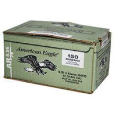 Federal American Eagle 5.56x45mm NATO 62 Gr. M855 SS109 Penetrator FMJ- Box of 150