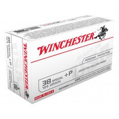 Winchester USA .38 Special +P 125 Gr. Jacketed Hollow Point USA38JHP