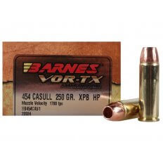 Barnes VOR-TX  .454 Casull 250 Gr. XPB Hollow Point Lead-Free- Box of 20
