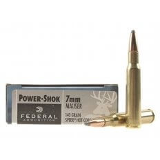Federal Power-Shok 7mm Mauser 140 Gr. Speer Hot-Cor Soft Point- Box of 20
