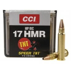 CCI .17 Hornady Magnum Rimfire (HMR) 17 Gr. Speer TNT Jacketed Hollow Point- Box of 50