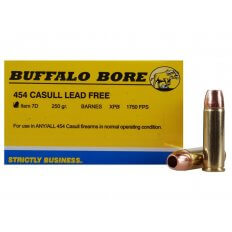 Buffalo Bore .454 Casull 250 Gr. Barnes XPB Solid Copper Hollow Point- Lead-Free- Box of 20