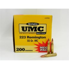 Remington UMC .223 Remington 55 Gr. Full Metal Jacket- Mega Pack of 200