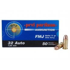 Prvi Partizan .32 ACP 71 Gr. Full Metal Jacket- Box of 50
