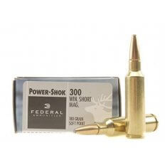 Federal Power-Shok .300 Winchester Short Magnum (WSM) 180 Gr. Soft Point- Box of 20