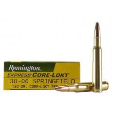 Remington Express .30-06 Springfield 180 Gr. Core-Lokt Pointed Soft Point- Box of 20