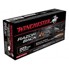 Winchester Razorback XT .223 Remington 64 Gr. Hollow Point- Lead-Free- Box of 20