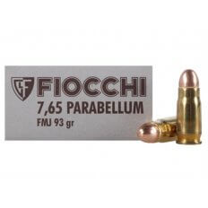 Fiocchi .30 Luger 93 Gr. Full Metal Jacket- Box of 50