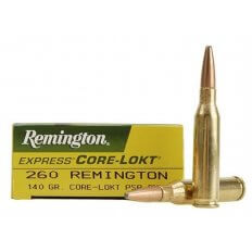 Remington .260 Remington 140 Gr. Core-Lokt Pointed Soft Point- Box of 20