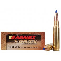 Barnes VOR-TX .308 Winchester 168 Gr. Tipped TSX Bullet Boat Tail- Lead-Free Box of 20