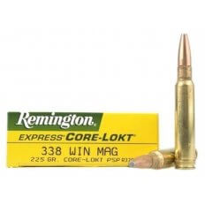 Remington .338 Winchester Magnum 225 Gr. Core-Lokt Pointed Soft Point- Box of 20