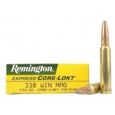 Remington Express .338 Winchester Magnum 250 Gr. Pointed Soft Point Core-Lokt- Box of 20