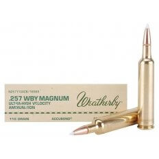 Weatherby .257 Weatherby Magnum 110 Gr. Nosler AccuBond- Box of 20