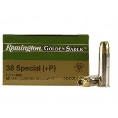 Remington Golden Saber .38 Special +P 125 Gr. Brass Jacketed Hollow Point- Box of 25