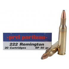 Prvi Partizan .222 Remington 50 Gr. Soft Point- Box of 20