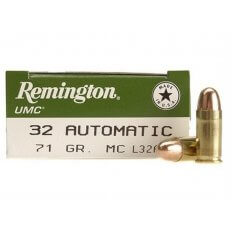 Remington UMC .32 ACP 71 Gr. Full Metal Jacket- Box of 50