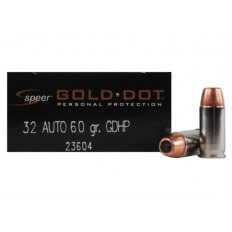 Speer Gold Dot .32 Auto 60 Gr. GDHP- Box of 20