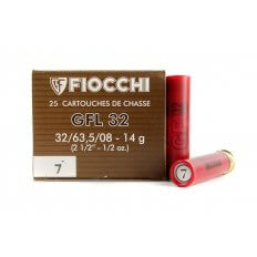 "Fiocchi Field Load 32 Gauge 2-1/2"" 1/2 oz #7 Shot- Box of 25"