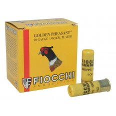 "Fiocchi Golden Pheasant 20 gauge 2-3/4"" 1 oz #6 Shot Nickel Plated - Box of 25"