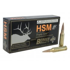 HSM Trophy Gold .260 Remington 140 Gr. Berger Hunting VLD Hollow Point Boat Tail