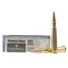 Federal Power-Shok .303 British 180 Gr. Speer Hot-Cor Soft Point 303AS