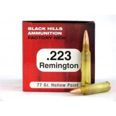Black Hills .223 Remington 77 Gr. Sierra MatchKing Hollow Point- Box of 50