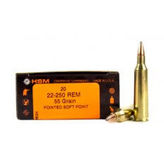 HSM .22-250 Remington 55 Gr. Pointed Soft Point HSM-22-250-4-N