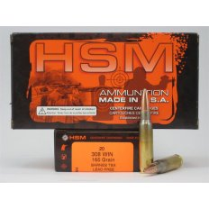 HSM .308 Winchester 165 Gr. Barnes TSX Boat Tail- Lead-Free- Box of 20