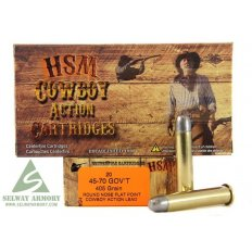 "HSM Factory Blemish .45-70 405 Gr. Round Nose Flat Point ""Cowboy Action"" Lead"