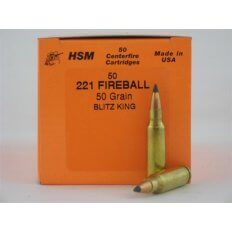 HSM .221 Fireball 50 Gr. Sierra BlitzKing- Box of 50