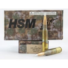 HSM .375 CheyTac 350 Gr. RMB Ultra Low Drag- Box of 10